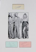 Bob Hope, Bing Crosby & Dorothy Lamour Autograph Signed Display